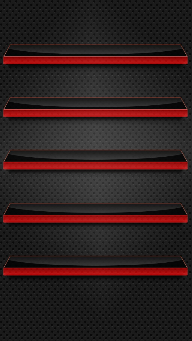 Black and Red Glass Shelves Wallpaper   iPhone Wallpapers 640x1136