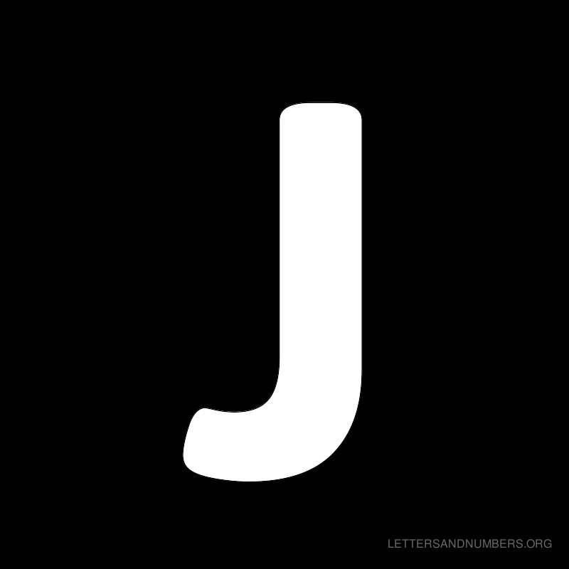 Letter Black Black background letter j 800x800