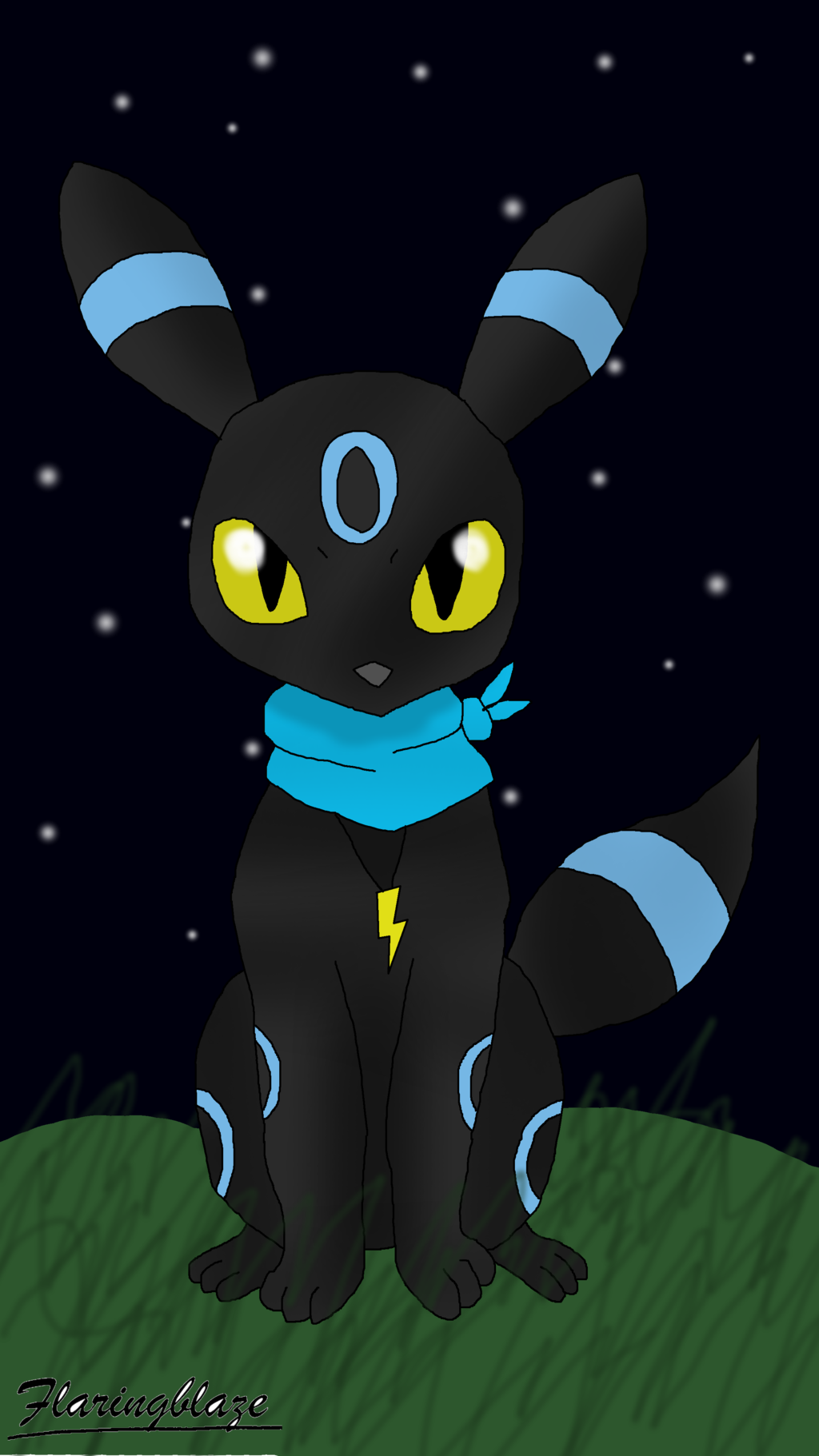 Shiny Umbreon Wallpaper Shiny umbreon in the stars 1024x1821