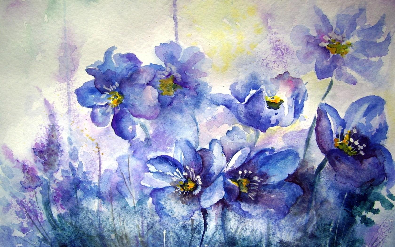 watercolor flowers wallpaper wallpapersafari