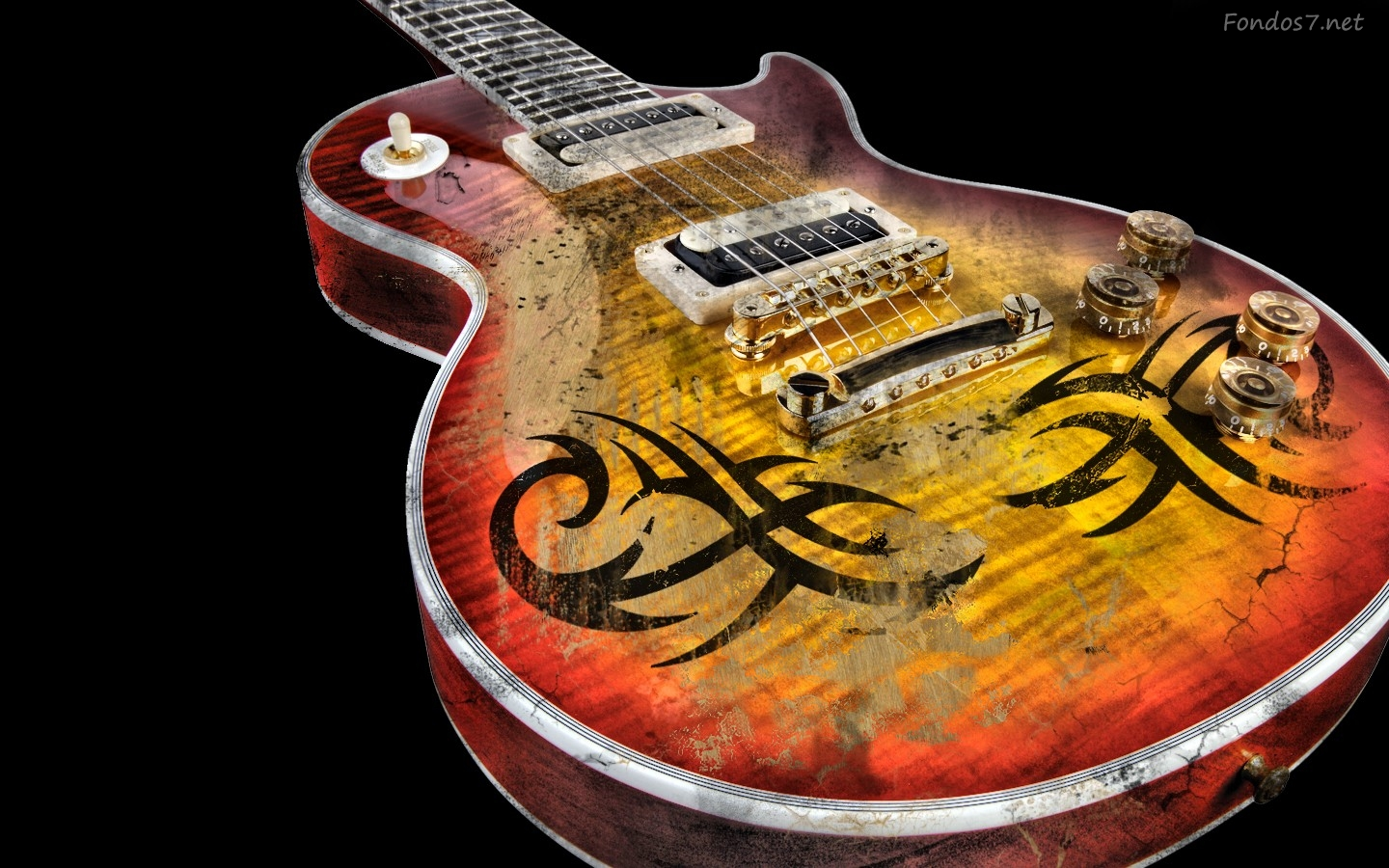 Free Download Pantalla Guitarra Gipson Les Paul Hd