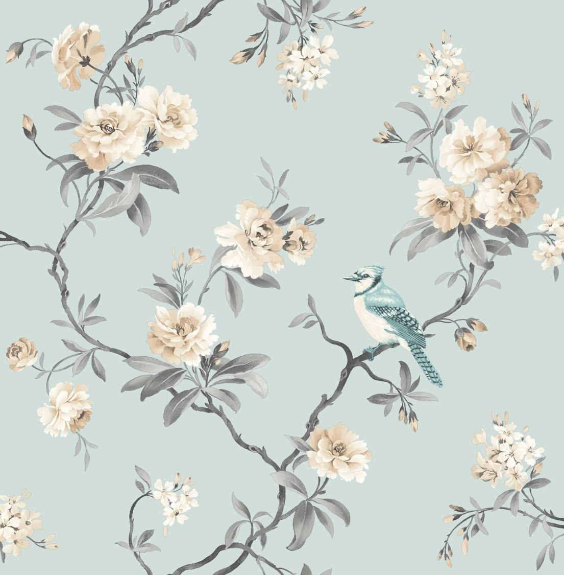 Decor Chinoiserie Wallpaper   FD40765   Teal   Cut Price Wallpaper 1105x1125