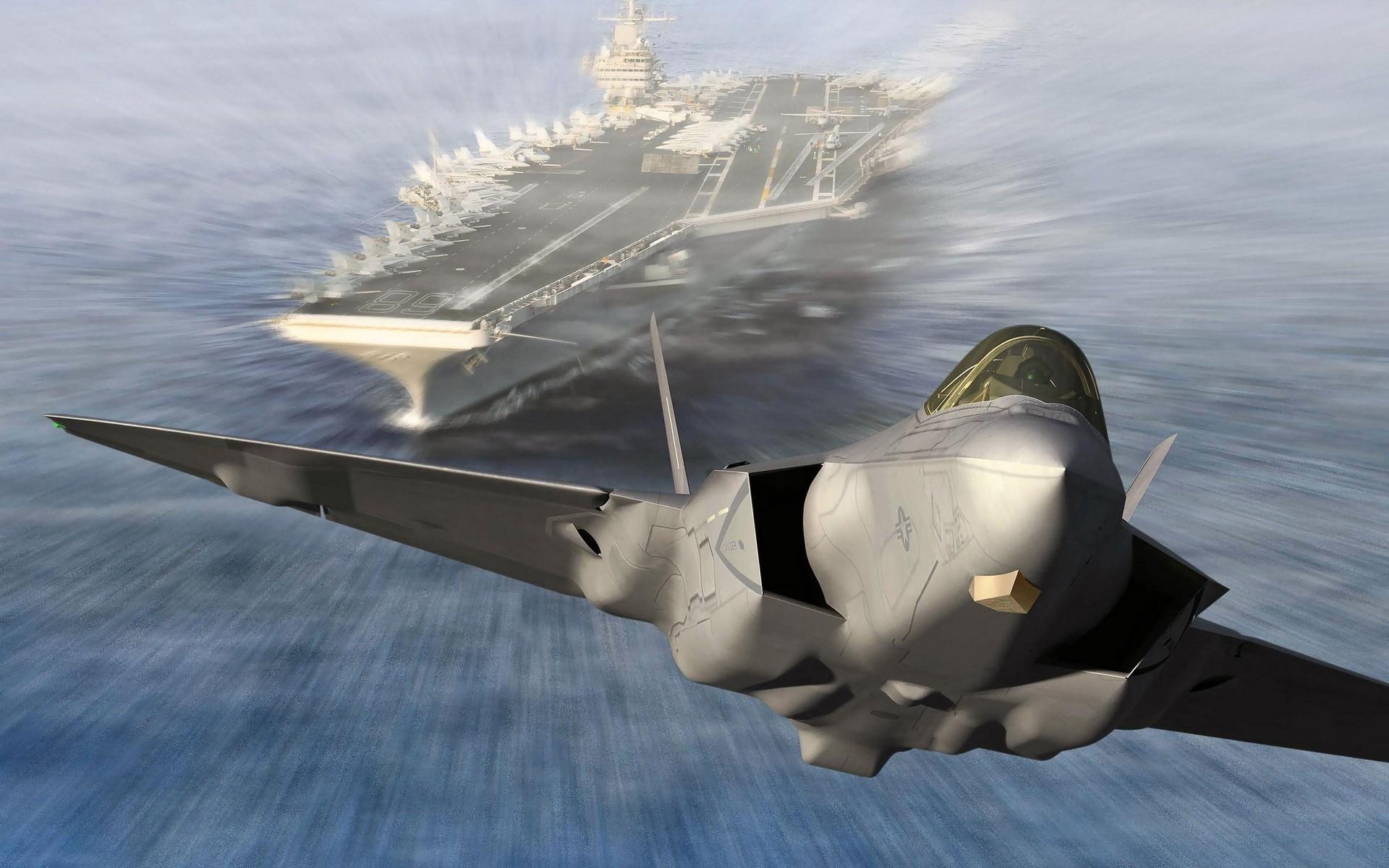 22 raptor aircraft carriers battlefield 3 speed wallpaper background 1920x1200