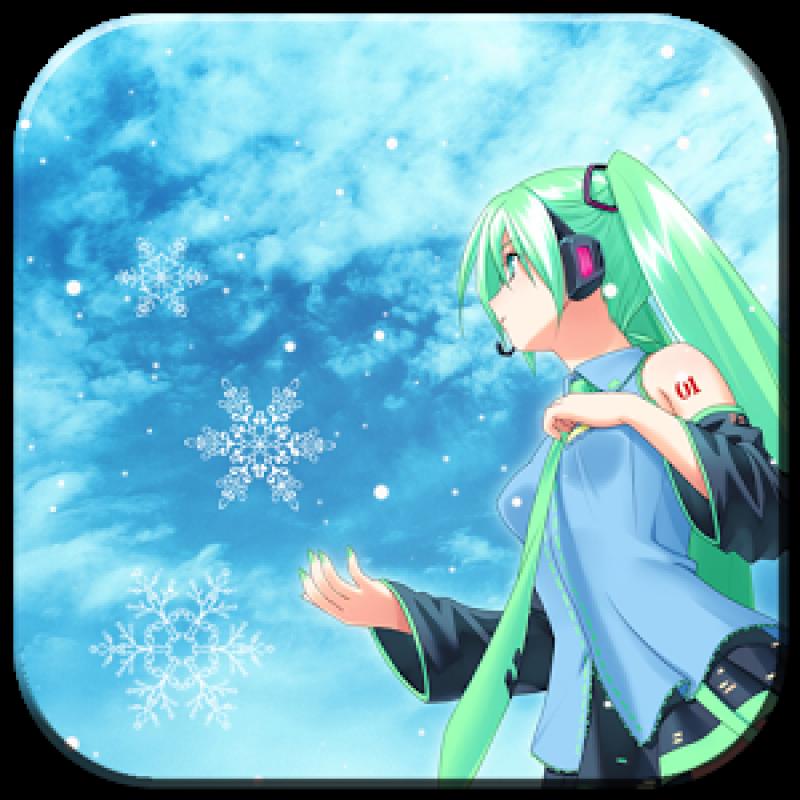 Free Download Snow Miku Live Wallpaper Indir Snow Miku Live