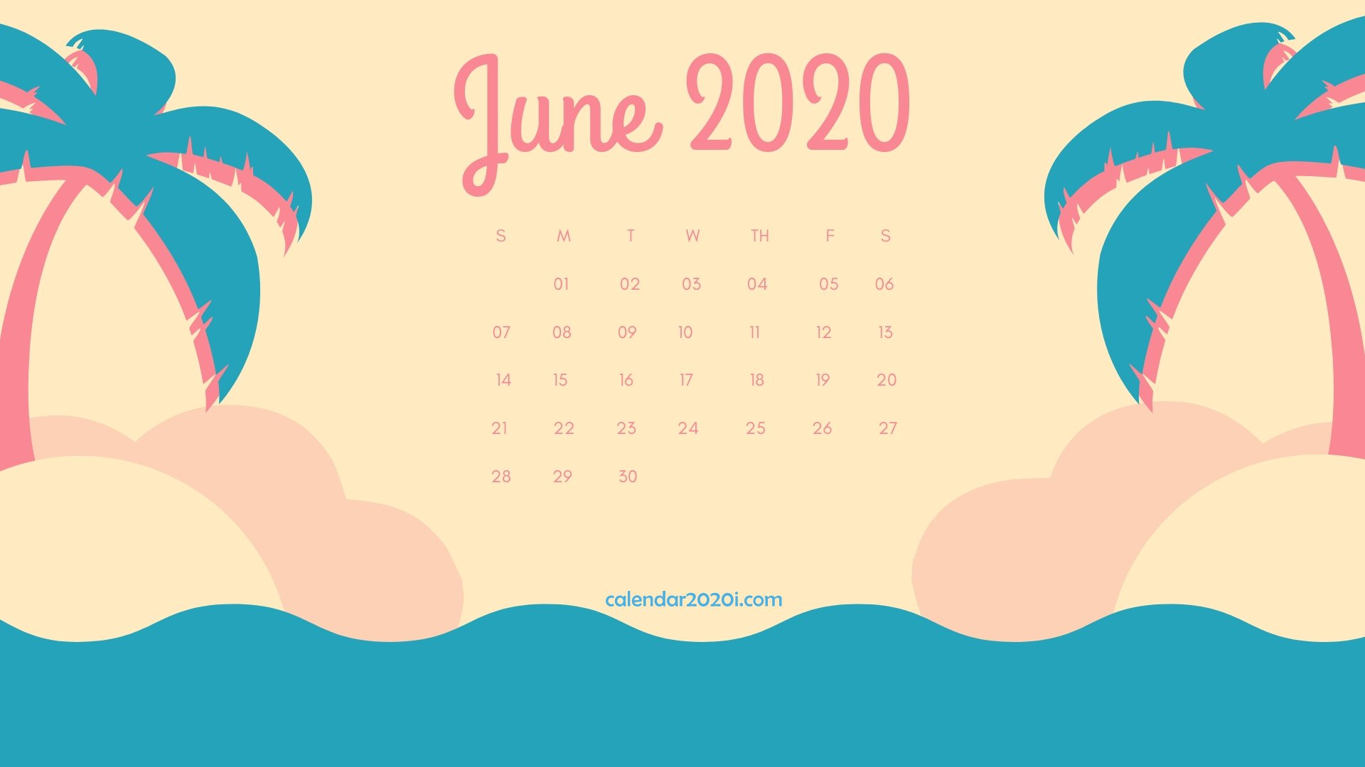 46] June 2020 Calendar Wallpapers on WallpaperSafari 1920x1080