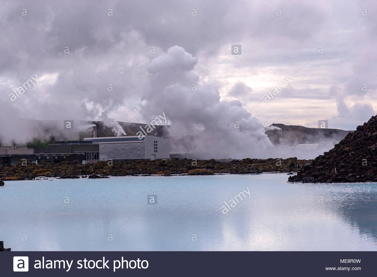 The Blue Lagoon with the Svartsengi Power Station in the 1300x956