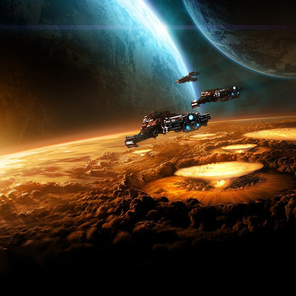Newest iPad wallpapers Space Wallpapers Space War 1024x1024