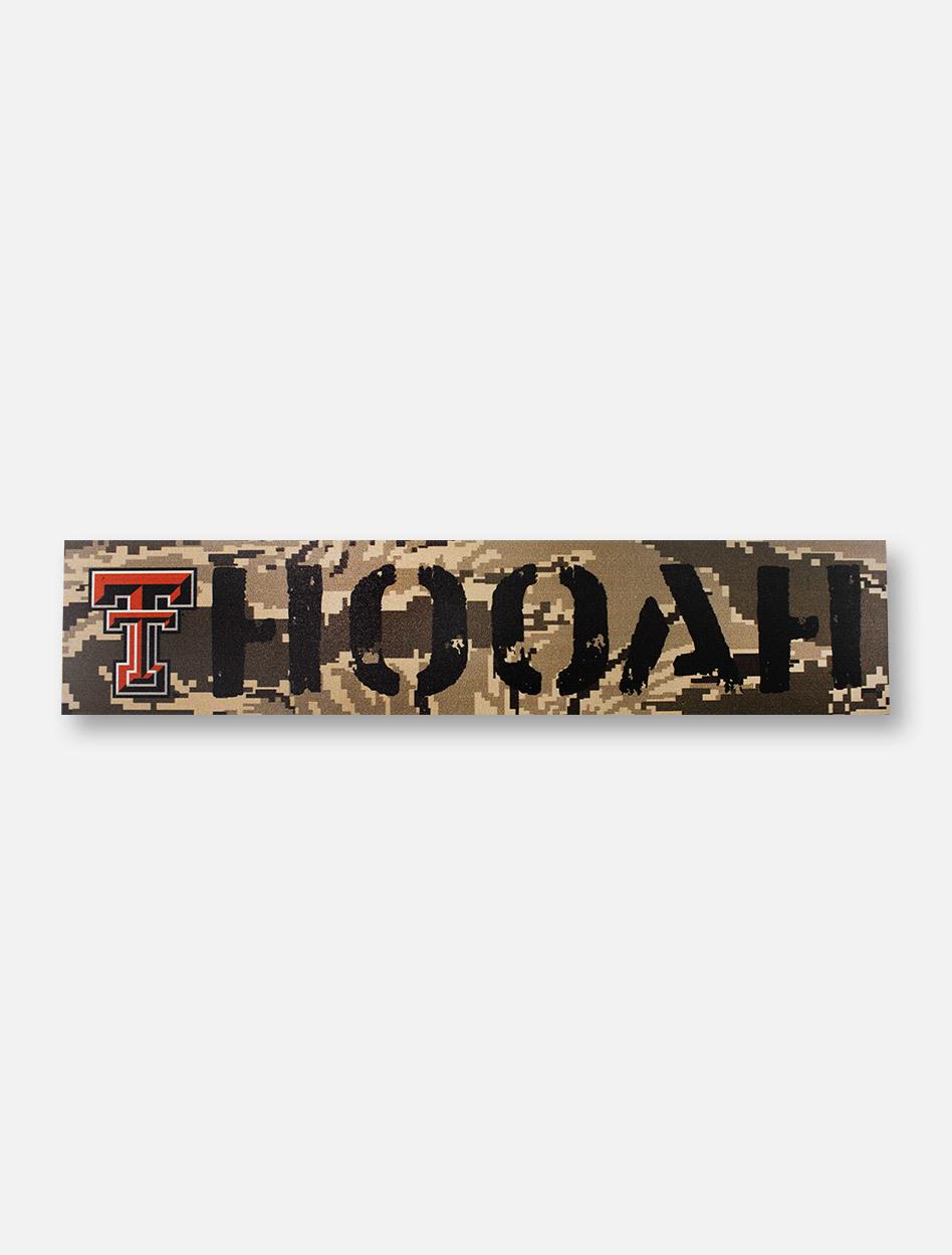 Texas Tech Red Raiders Double T Oorah on Marine Digi Camo Wall Decor 948x1250
