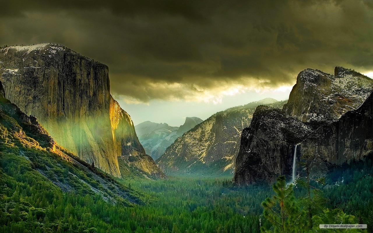 Wallpaper   Travel wallpaper   Yosemite National Park wallpaper 1280x800
