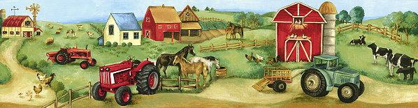 Farm Wallpaper Border 598x155