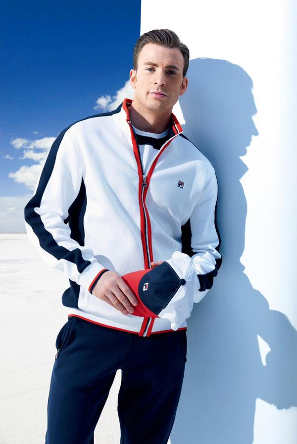 Chris Evans is Sporty Vision for Fila China 600x896