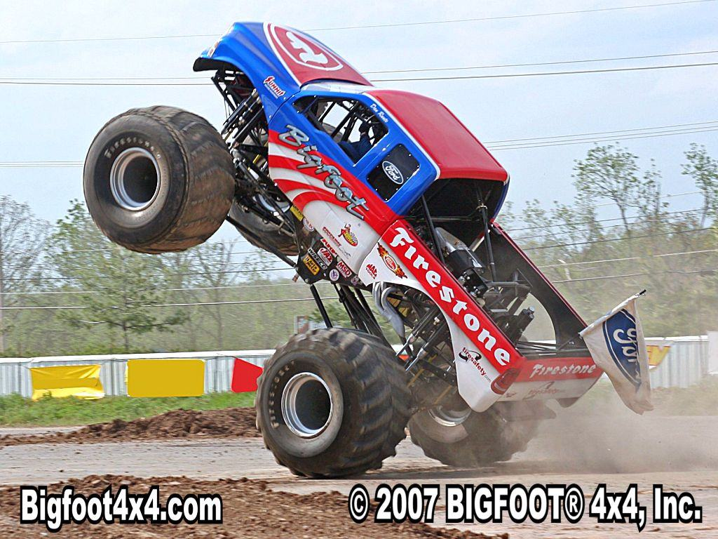 Download Wallpapers Backgrounds   bigfoot monster truck wallpaper 1024x768