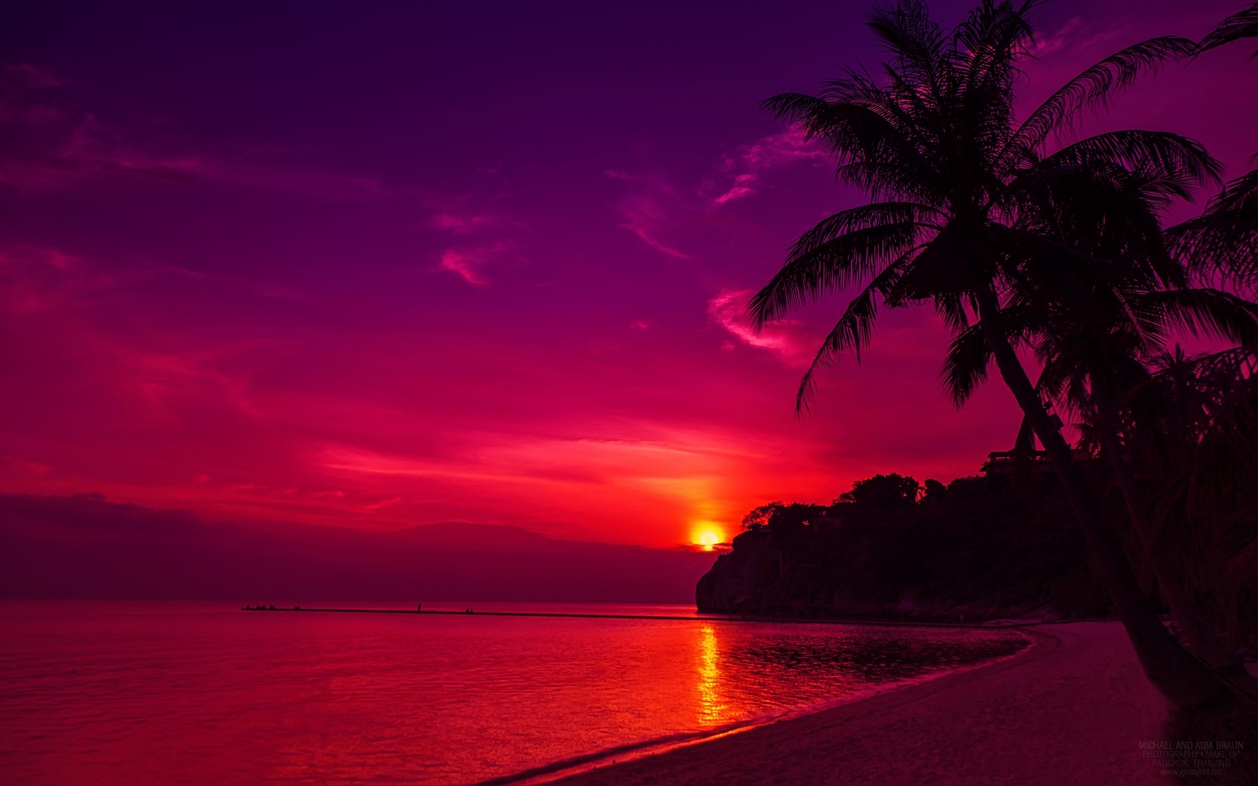 39 Tropical Beach Sunset Wallpaper Desktop On Wallpapersafari