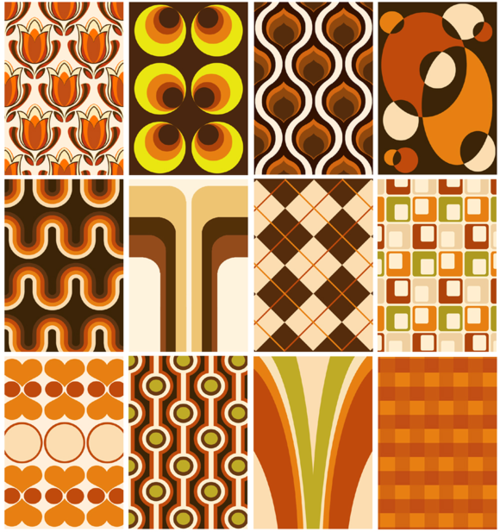 Super Seventies 1970s wallpaper designs 500x532