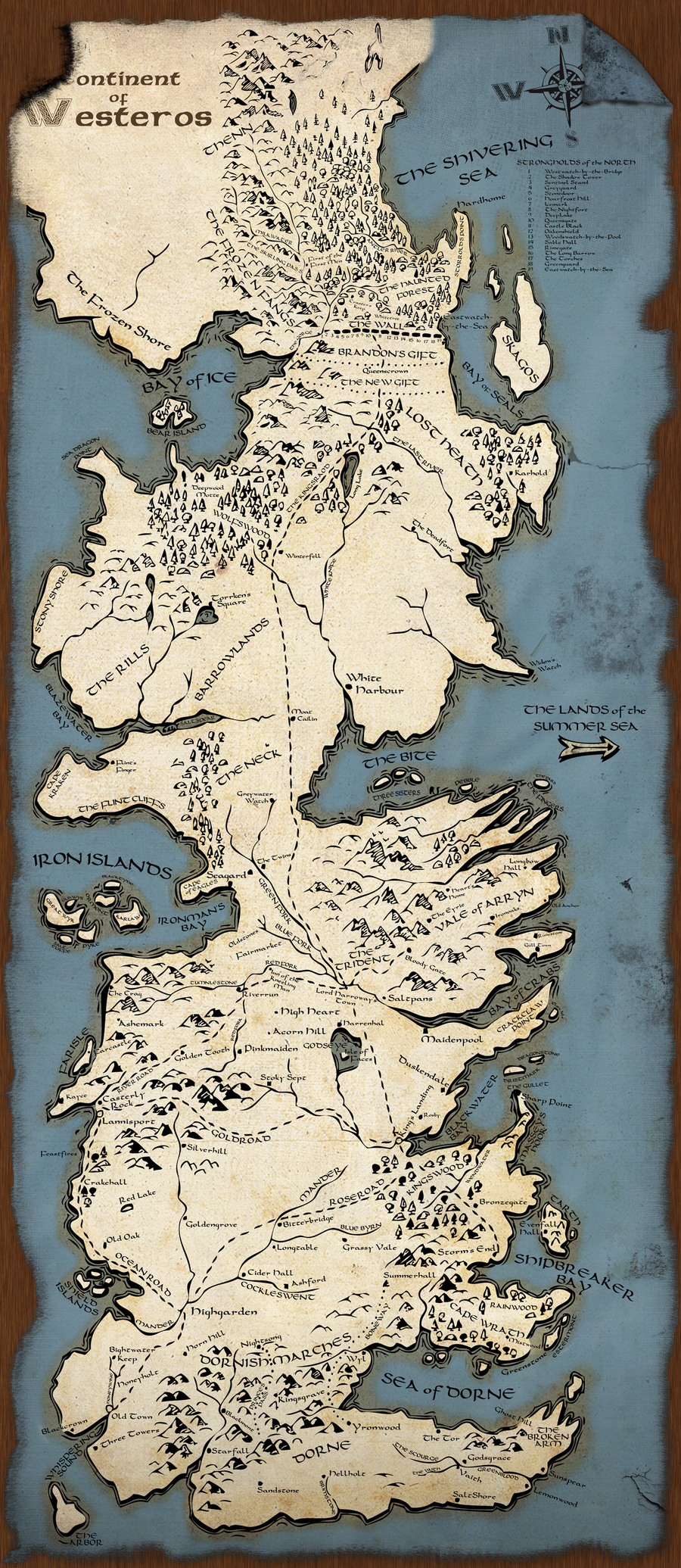Rough Political Map of Westeros by lamnay on DeviantArt |Westeros Map