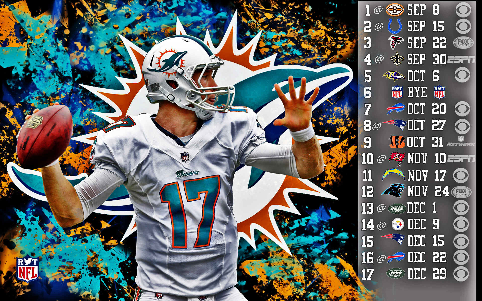 2013 Miami Dolphins football nfl wallpaper background 1920x1200