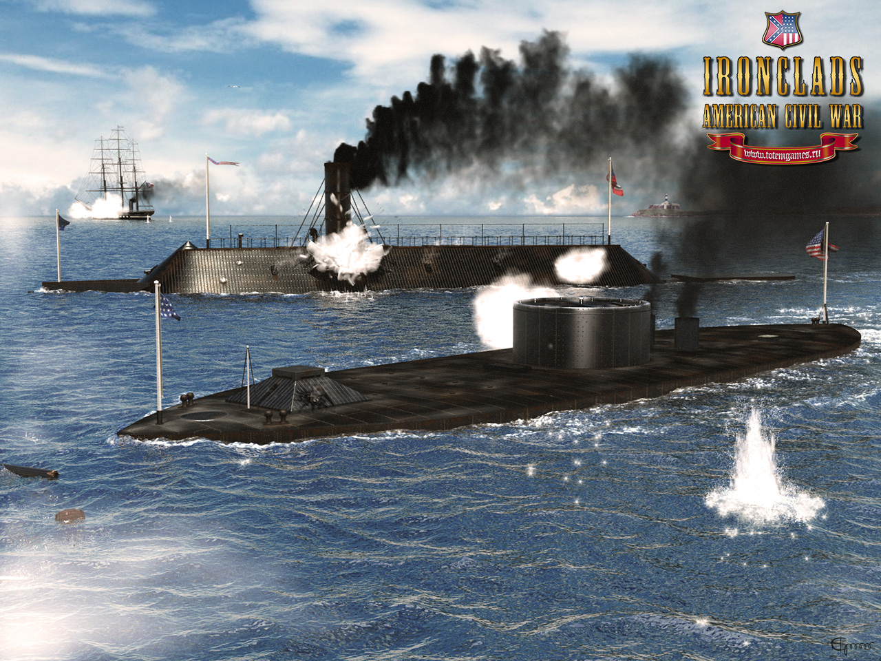 Ironclads American Civil War   wallpaper for the game wallpapers 1280x960