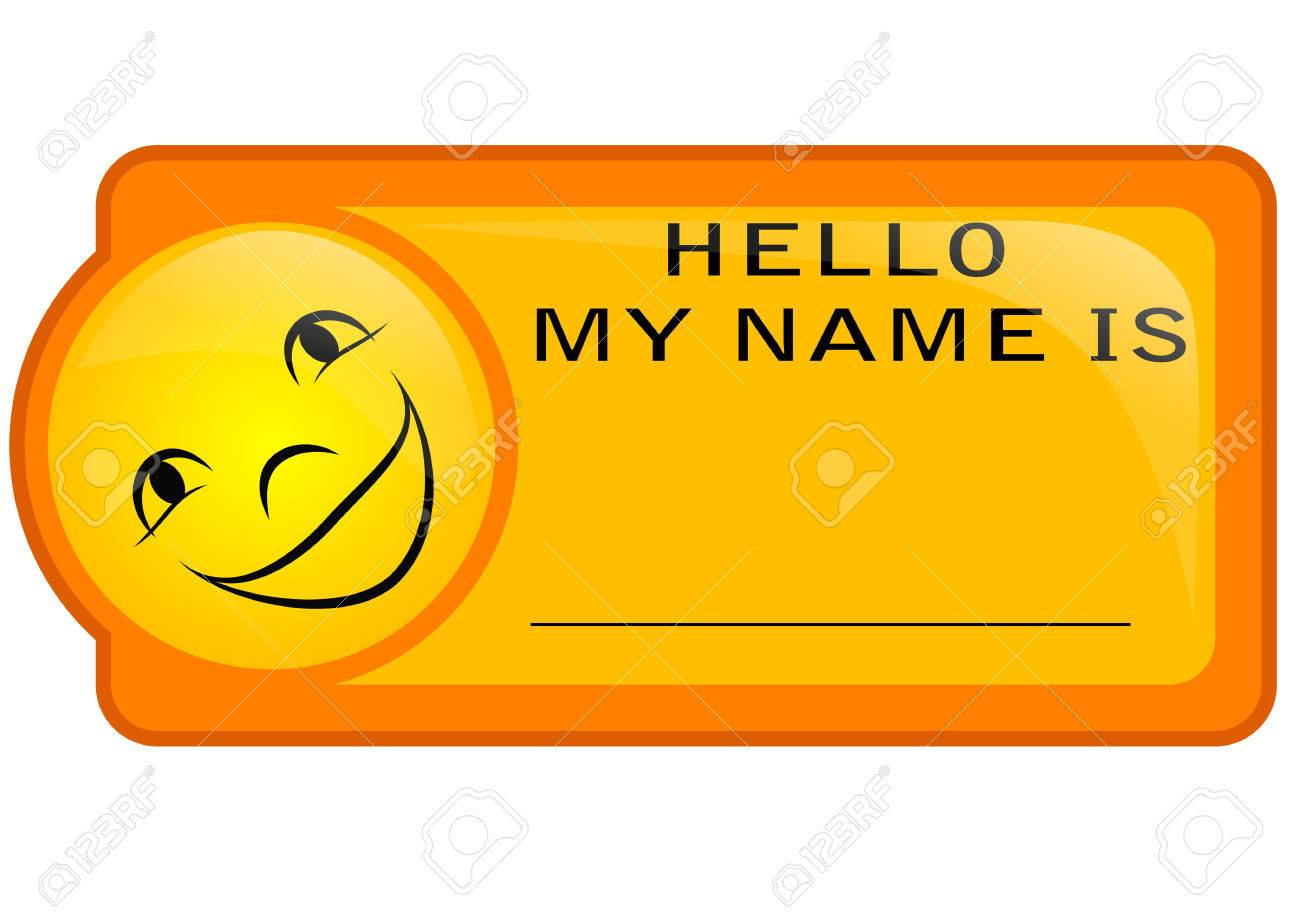Name Tag Isoolated On A White Background Royalty Cliparts 1300x918