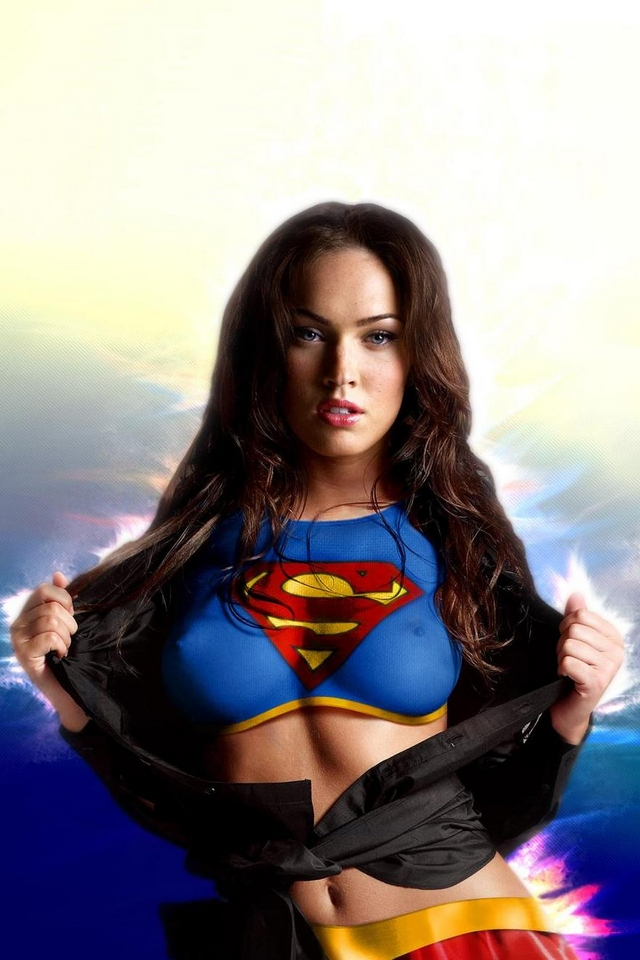 megan fox superman   Download iPhoneiPod TouchAndroid Wallpapers 640x960