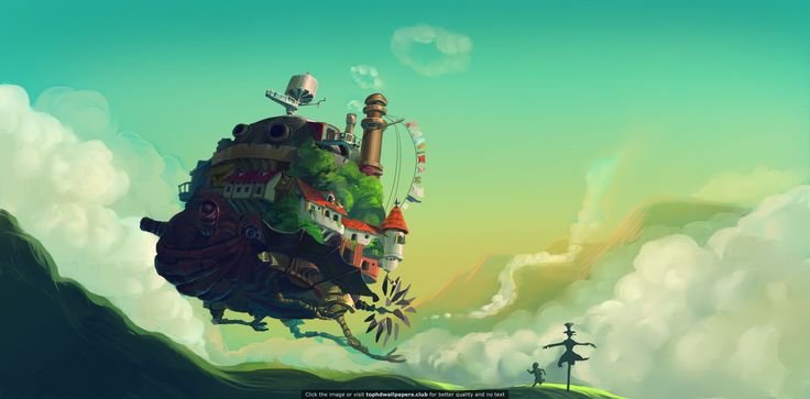 Howl Moving Castle 4K or HD wallpaper for your PC Mac or Mobile 736x363