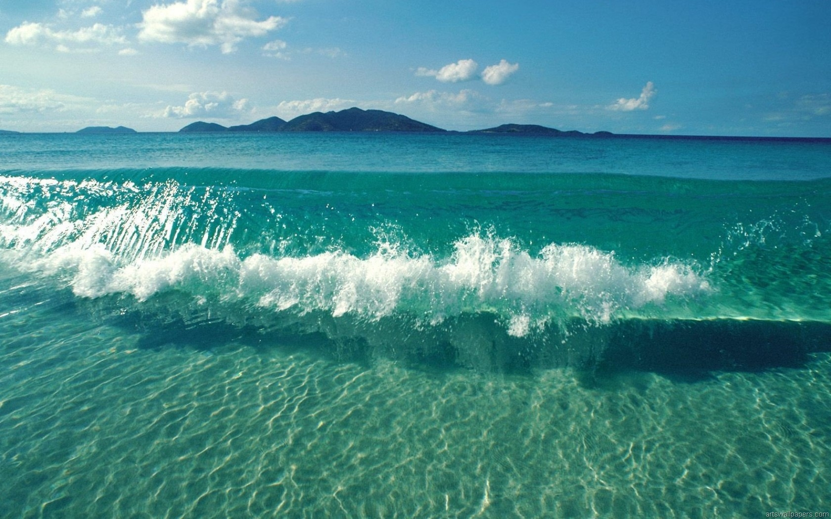 Sea Ocean Wallpaper HD Full HD 1080p Desktop Wallpaper Background 1680x1050