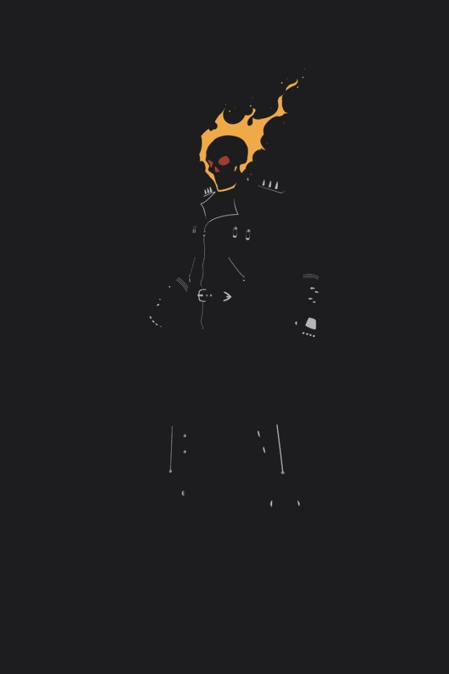 640x960 Ghost Rider Illustration Iphone 4 wallpaper 640x960