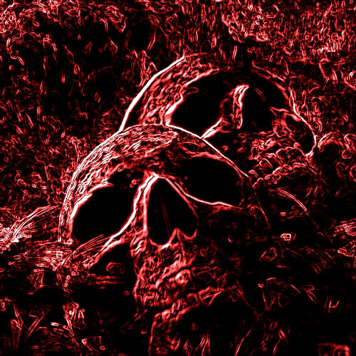 Flaming Skulls 2 Red Neon Flame Graphics Code Flaming Skulls 2 Red 500x500
