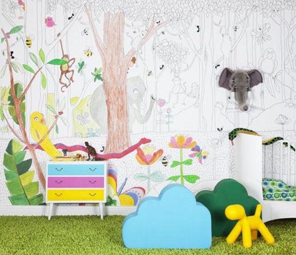 Jungle Dudes Wallpaper For Kids Room 587x507