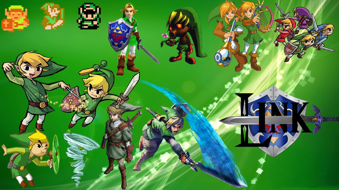 Zelda History of Link Wallpaper by QuietHF 1366x768