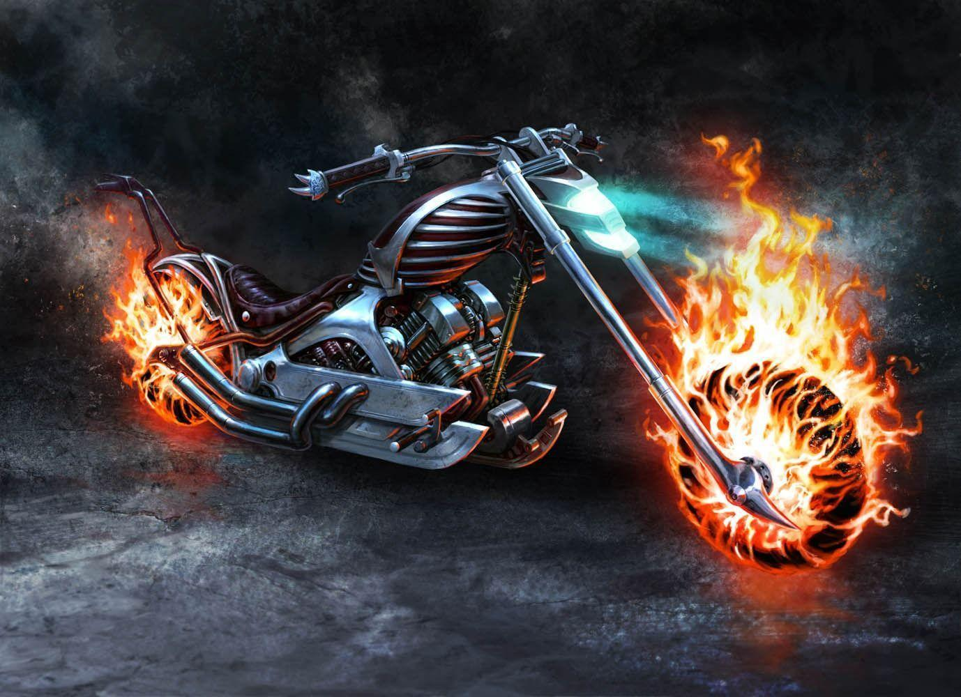 Ghost Rider Bike Wallpapers 1378x1000