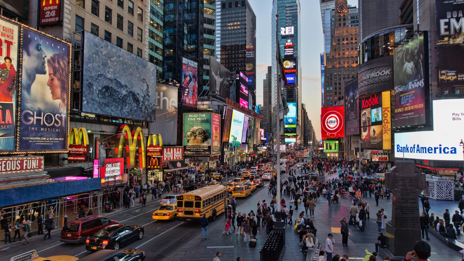 Times Square 4K Ultra HD wallpaper 4k WallpaperNet 1920x1080
