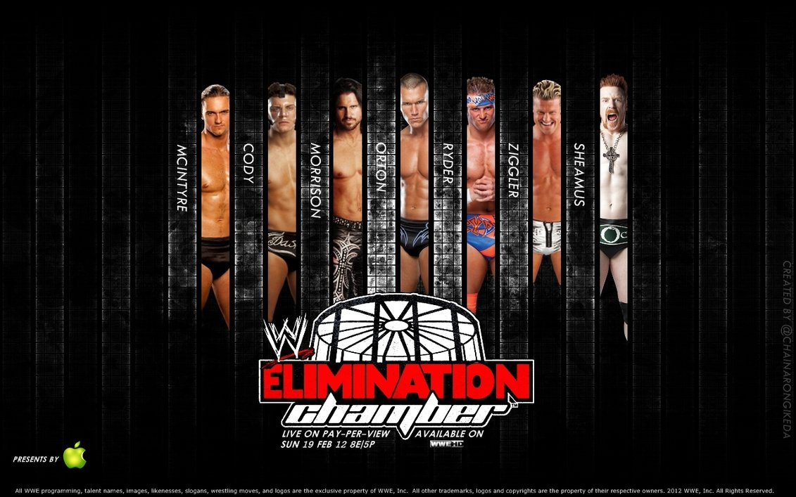 WWE Elimination Chamber My Create by chainarongikeda on 1131x707