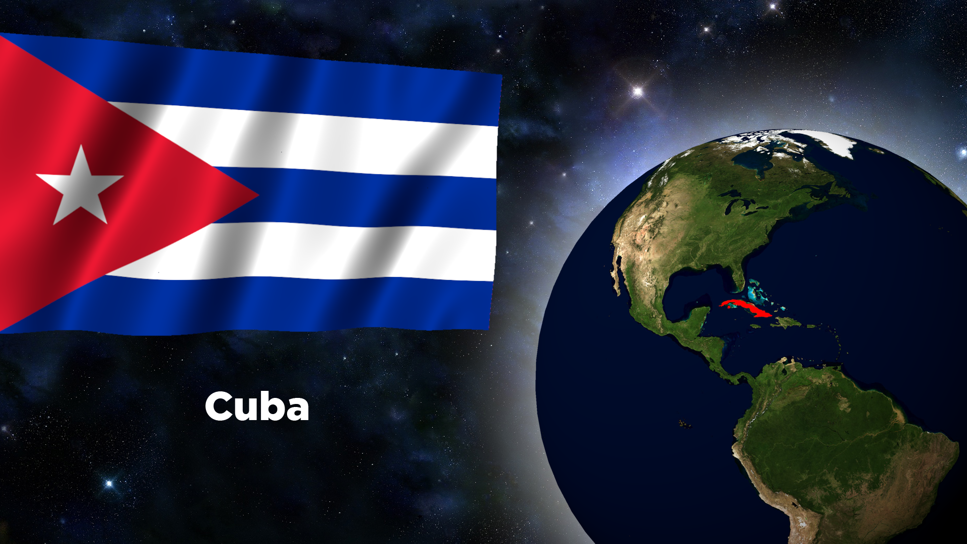 Flag Wallpaper   Cuba by darellnonis 1920x1080