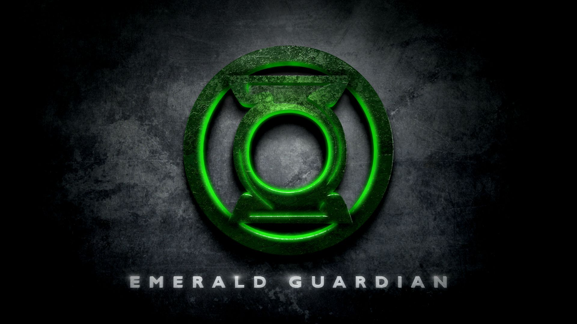 Green Lantern Emerald Guardian Logo in the Style of Man of Steel 1920x1080