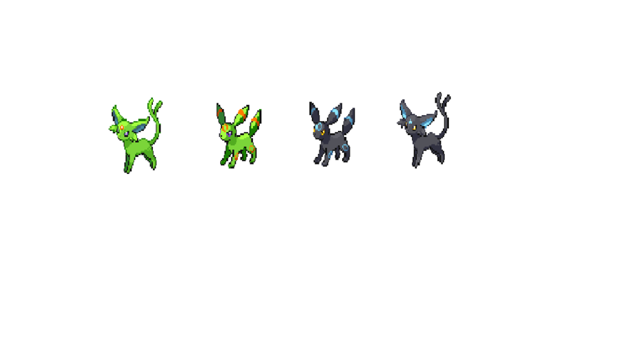 shiny umbreon and shiny espeon reverse by ButterMan 991 900x505