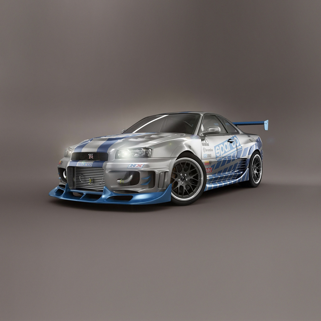 iPad 2 Wallpapers Pictures Backgrounds 1024x1024 Nissan Skyline GTR 1024x1024