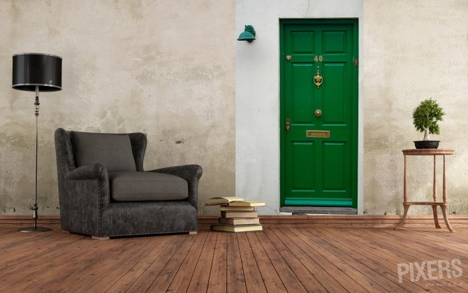 you can always escape through the green door wallpaper 670x419