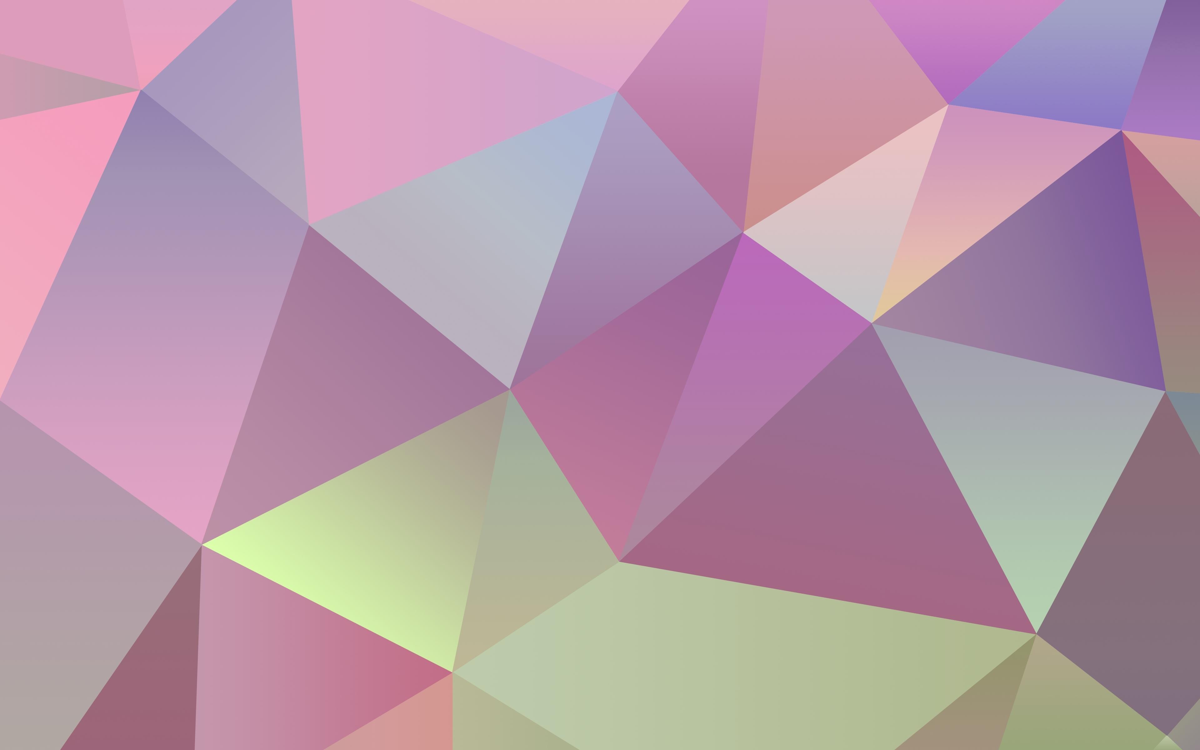 bean simple triangles clean 3840x2400 wallpaper Wallpaper HD download 3840x2400