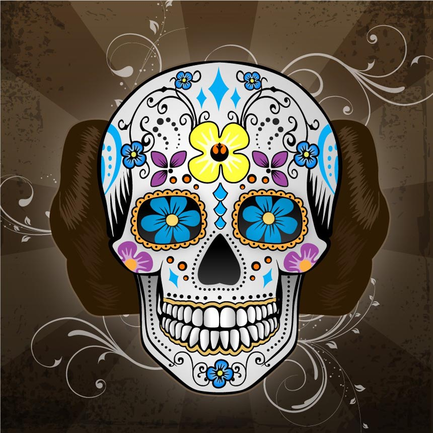 Free Download Mexican Traditional Skull Styled Star Wars