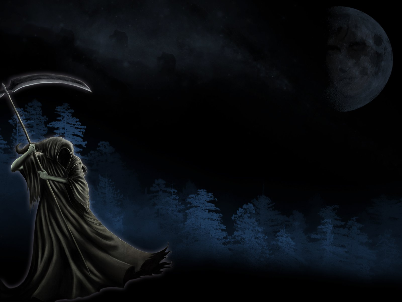 Dark horror grim reaper death art wallpaper 1600x1200 29490 1600x1200