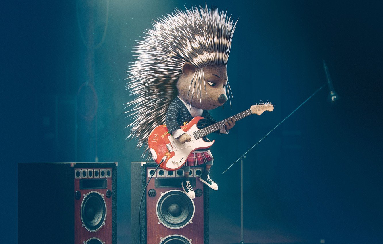 Wallpaper Guitar Movie Sing Zveroboy a porcupine images for 1332x850