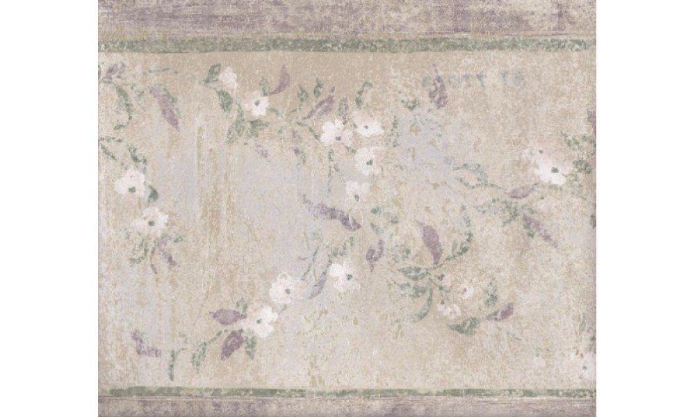 Home Green Silver White Stone Floral Wallpaper Border 1000x600