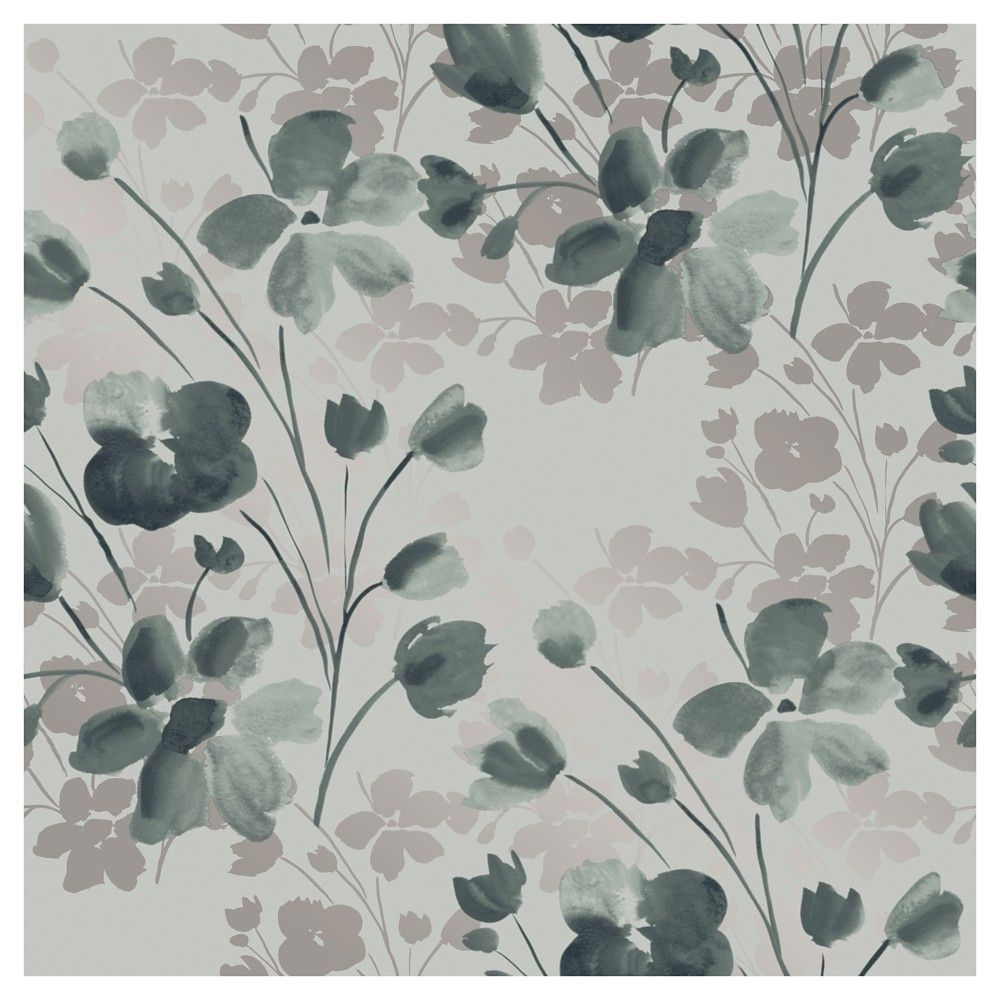 Devine Color Wildflower Peel and Stick Wallpaper Sterling and 1000x1000