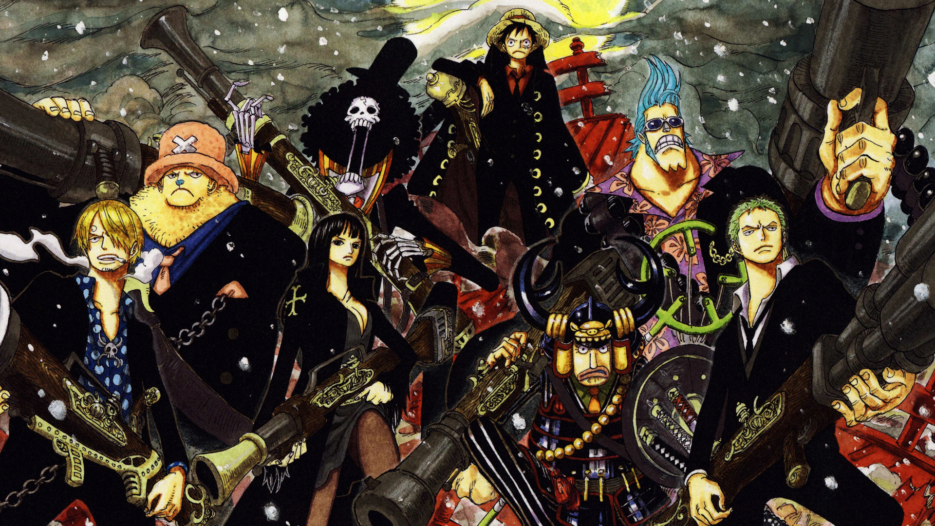 Free Download One Piece Crew Wallpaper New World 1920x1080 For