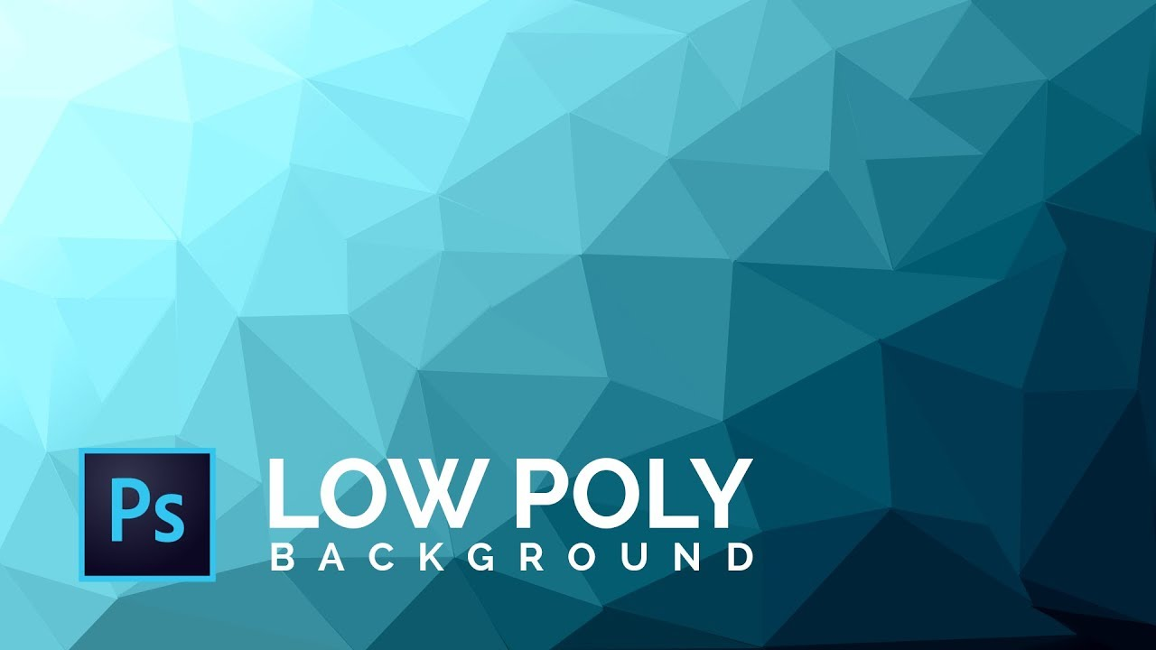 How to make a Cool Low Poly Background   Photoshop CS6CC Tutorial 1280x720