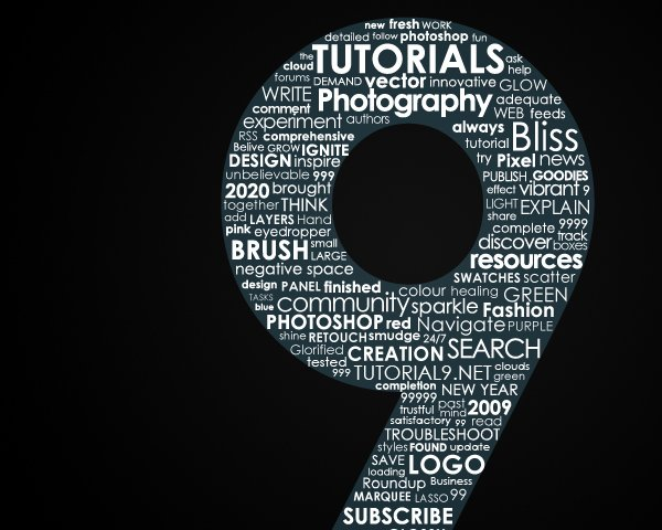 Creating a Typographic Wallpaper Tutorial9 600x480