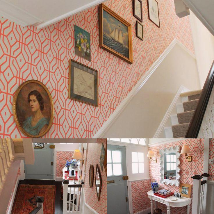 using annaspiro for Porters Paints wallpaper Rosey Posey Trellis 736x736