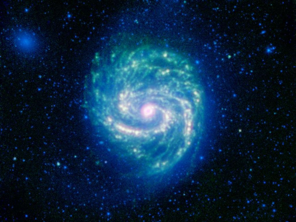 Space Images Hot and Cold in the M100 Galaxy 1024x768