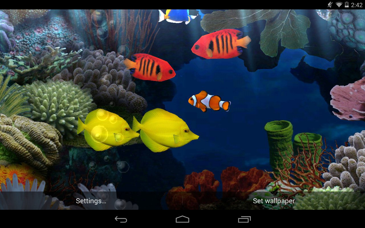 Fish Aquarium Live Wallpaper for Android   download 1280x800