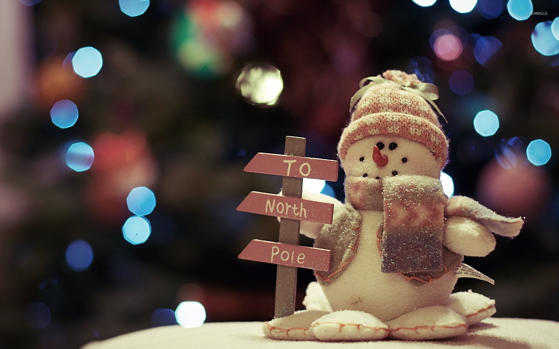 Snowman going to the North Pole wallpaper   Holiday wallpapers 1920x1200